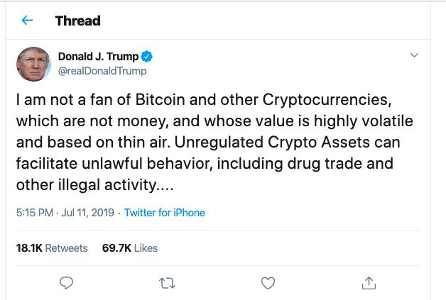 Donald Trump e Bitcoin