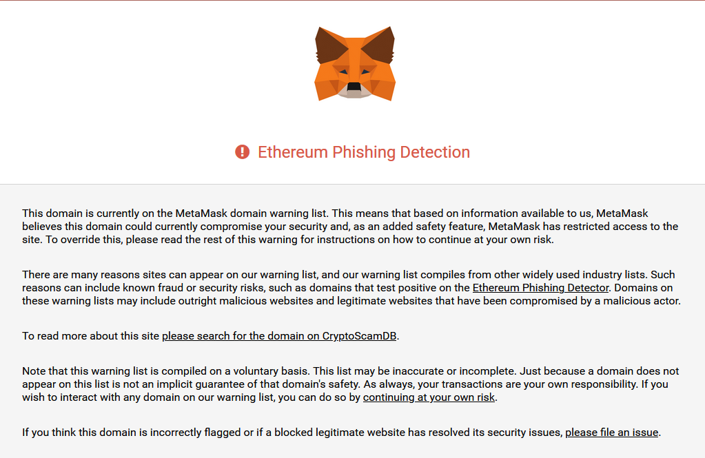 Ethereum Phishing Detection