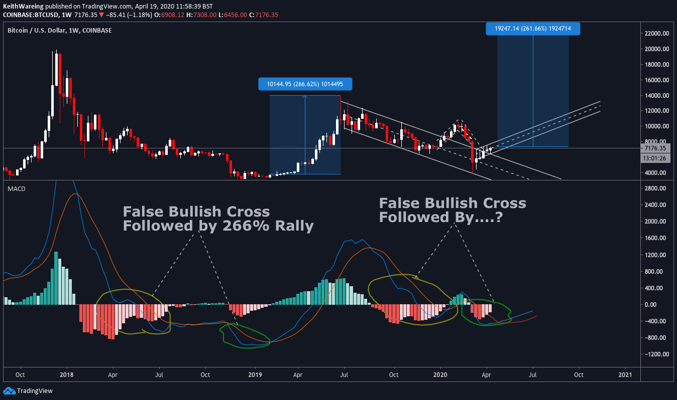 BTC USD weekly MACD chart Source: TradingView