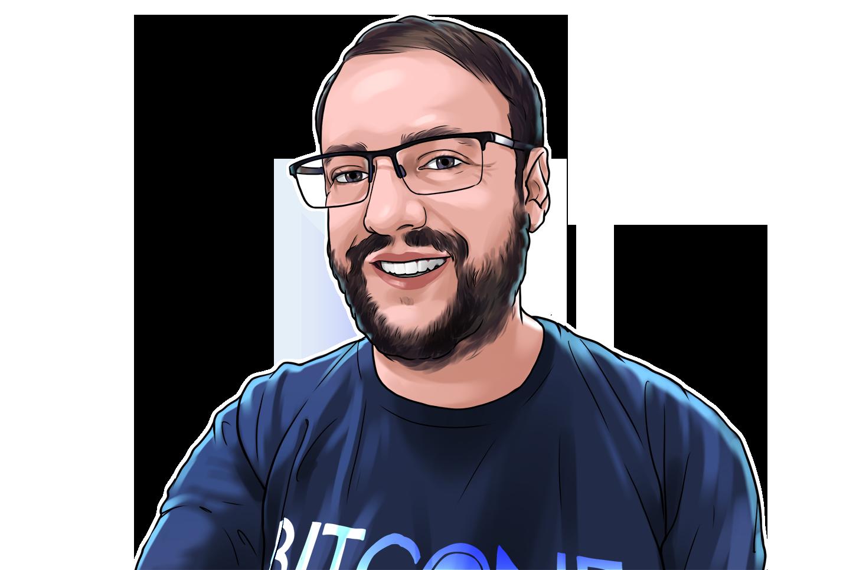 Wladimir Crippa & CEO da Bitconf & poster`