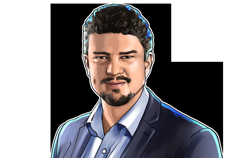 Rodrigo Ventura & CEO na 88Insurtech Blockchain & poster`