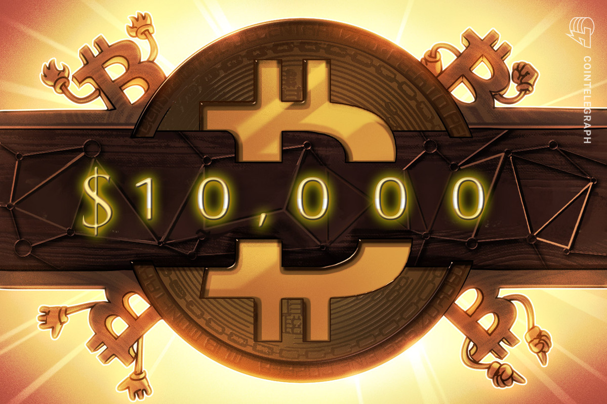 Bitcoin price must hold the low $9Ks to continue its upward grind and finally conquer the psychological $10,000 level.