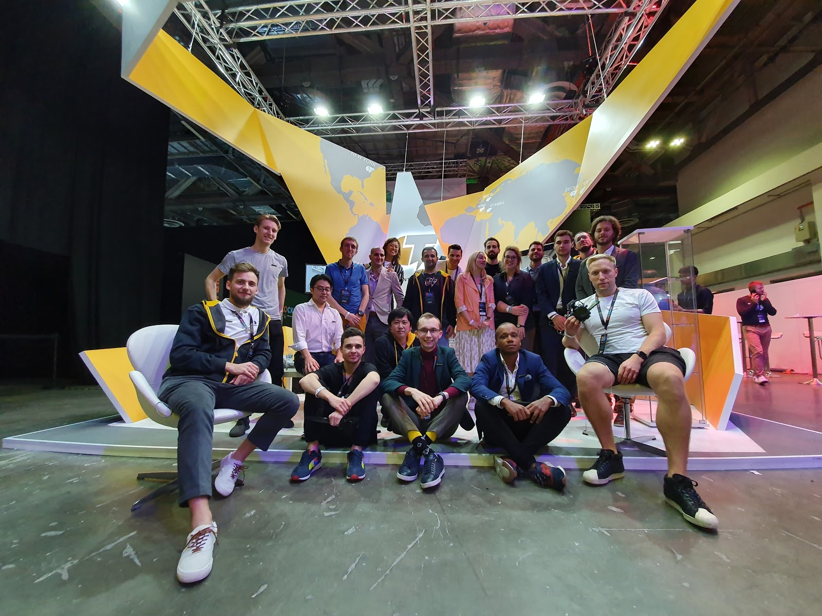 It was an action-packed couple of days at BlockShow, but we finally got the Cointelegraph team together for a group photo