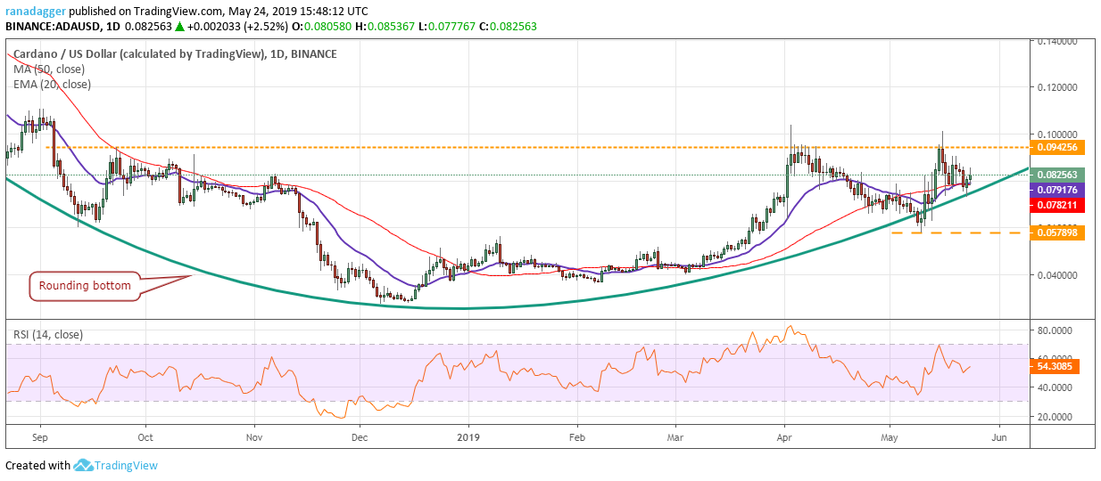 Bitcoin Ethereum Ripple Bitcoin Cash Eos Litecoin Binance Coin Stellar Cardano Tron Price Analysis May 24