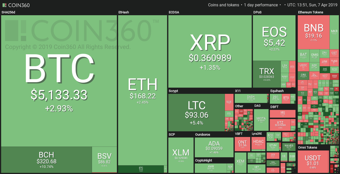 Market visualization thanks to Coin360