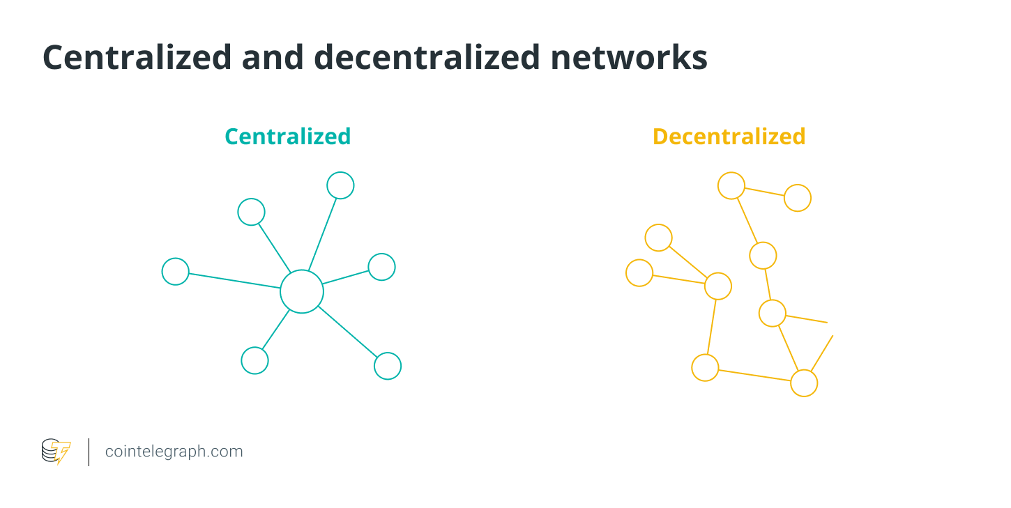 Centralized and decentralized networks