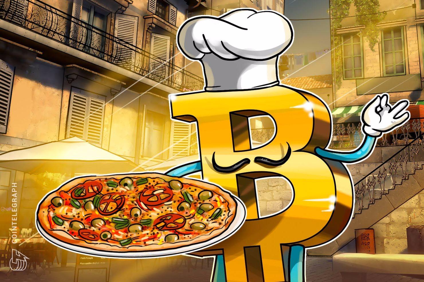 ピザ2枚 1万ビットコイン