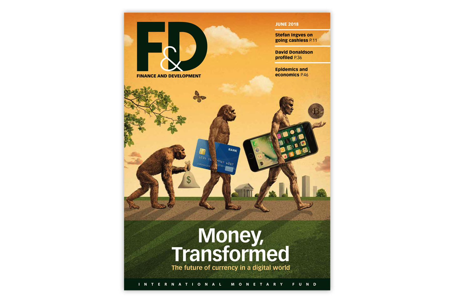 Title page of the June 2018 issue of Finance and Development, a magazine released and published by the International Monetary Fund