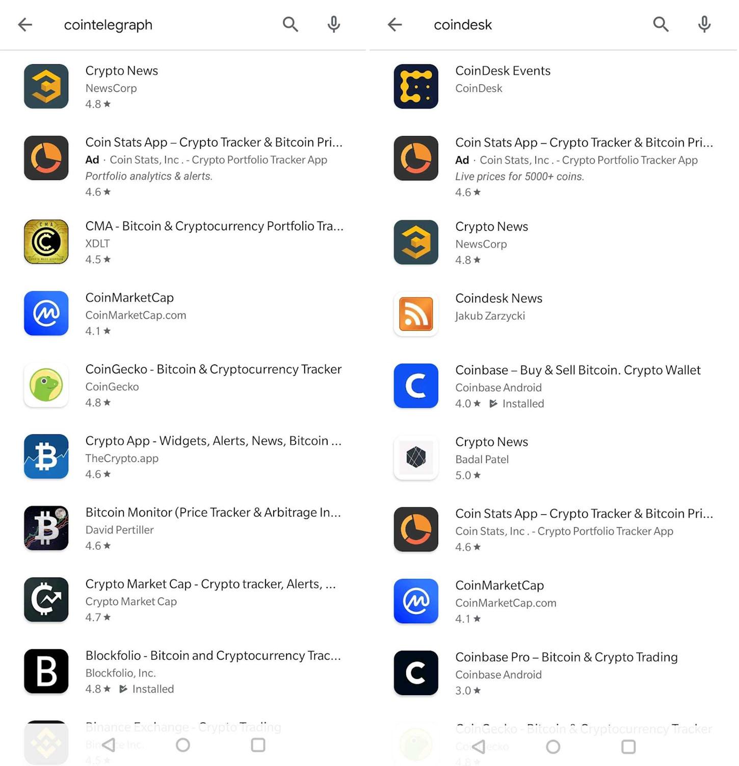วงการข่าวคริปโตงานเข้า Google บล็อกแอพเว็บข่าวออกจาก Play Store
