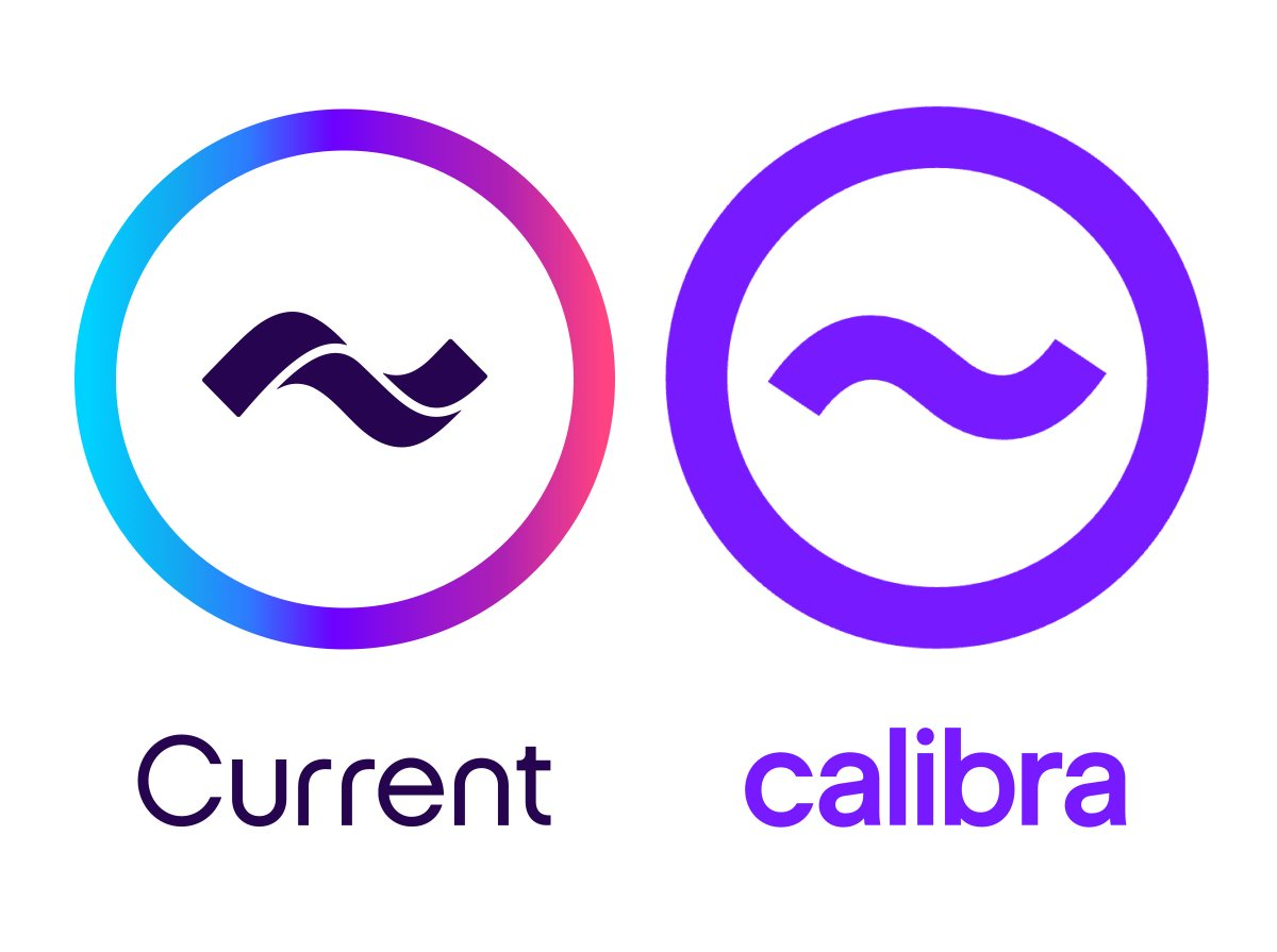 calibra and current logo