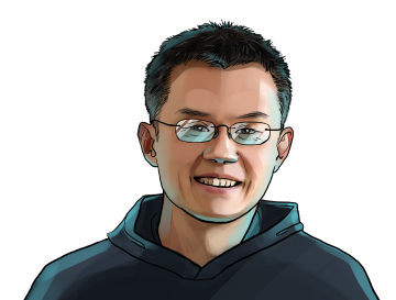 Changpeng Zhao & CEO of Binance & poster`