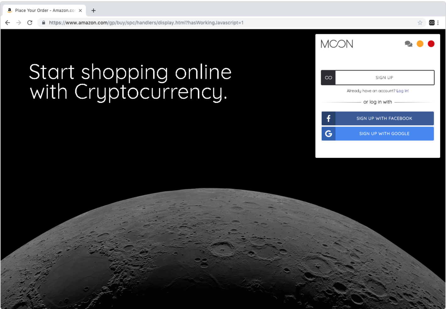 amazonでの仮想通貨決済の方法1