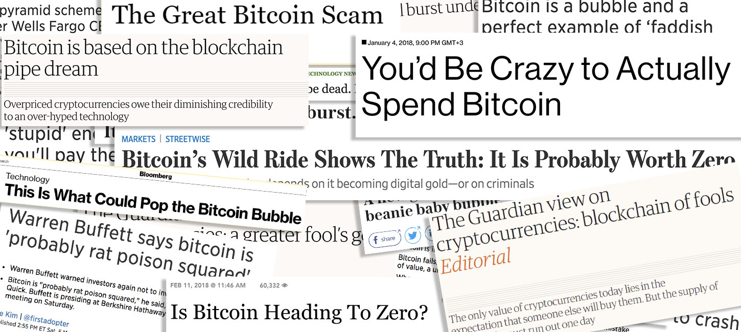 Good Ol' FUD: The Brightest Media Burials of Bitcoin in 2018