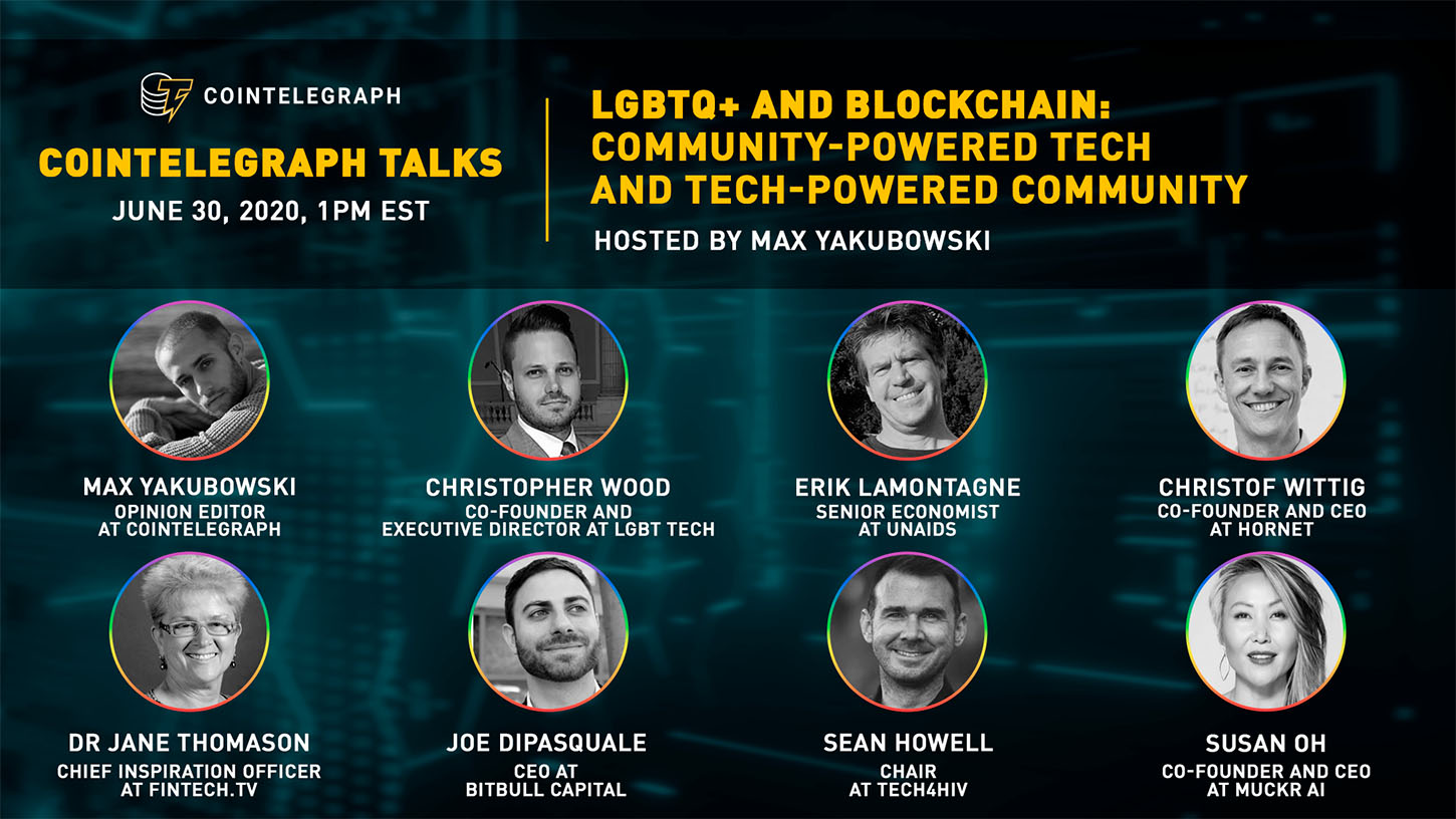 Cointelegraph Hosts Online Meetup To Talk Lgbtq And Blockchain