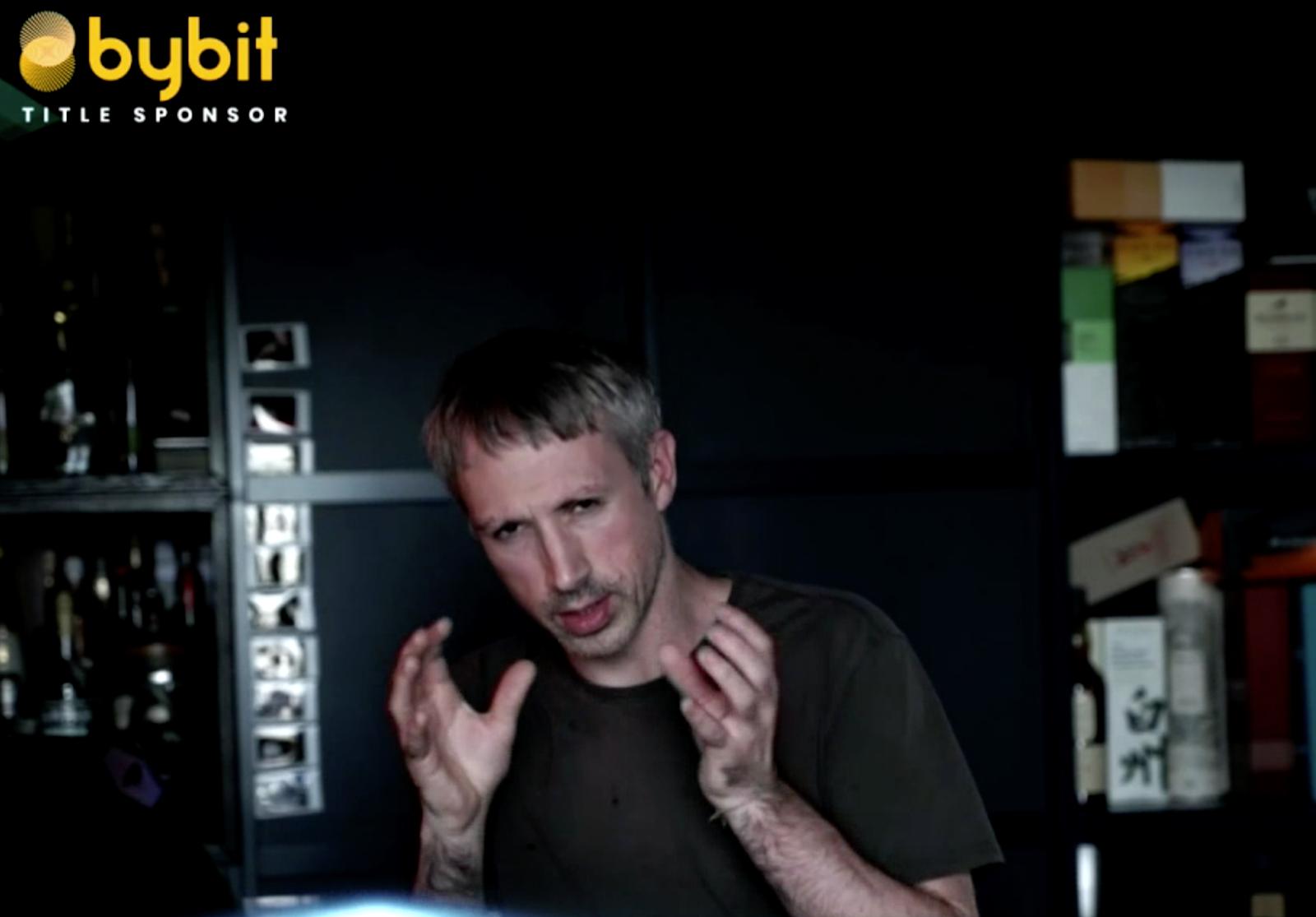 Captura de pantalla de Gavin Wood hablando en Unitize el 6 de julio