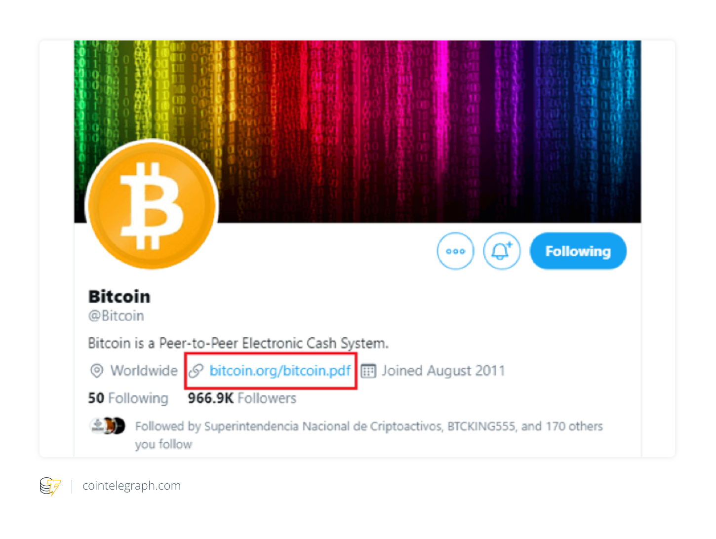 Crypto World Skeptical as @Bitcoin Twitter Account Ditches