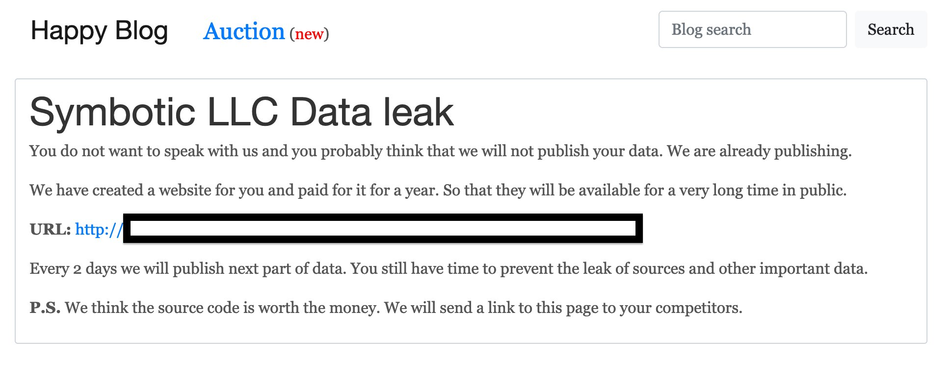 Symbotic LLC Data leak