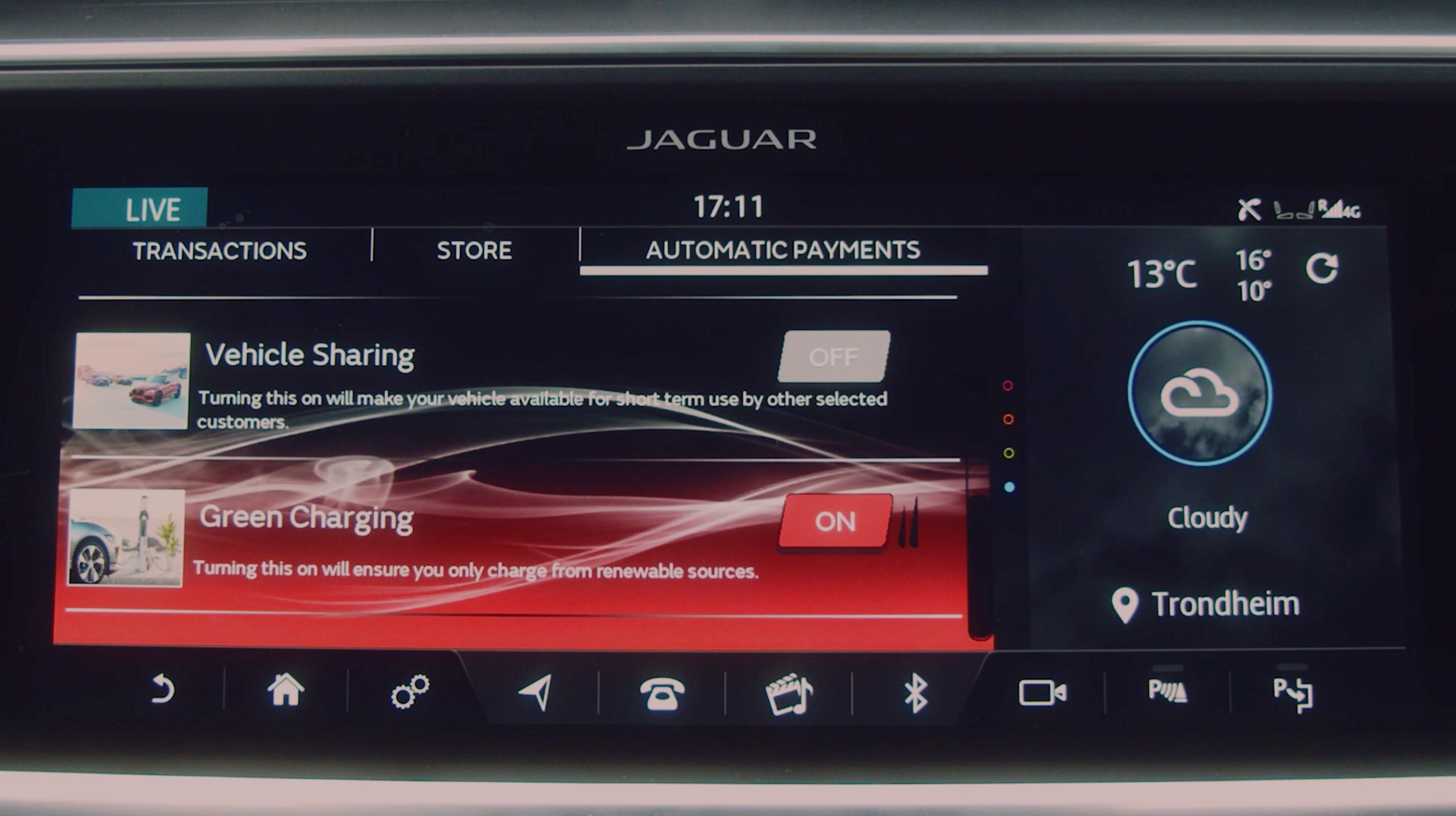 Interfaccia Jaguar I-Pace