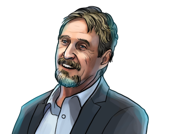 John McAfee & Founder of McAfeeDEX.com & poster`