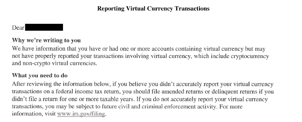 IRS Letter 6174-A