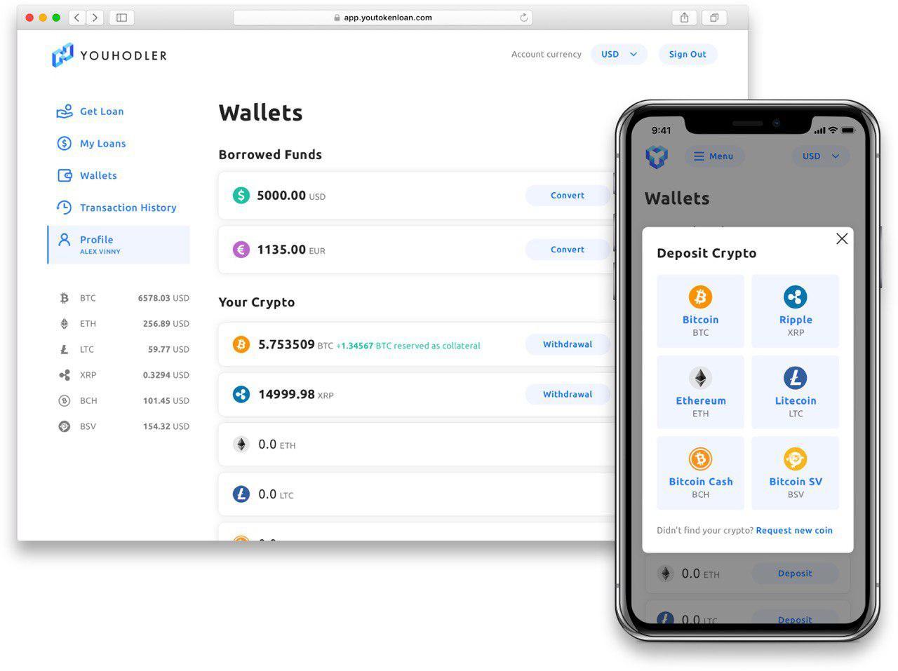 YouHodler / Wallet