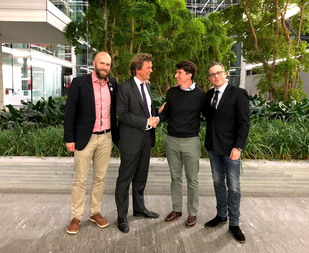 Left to right: Frederik Greegard (Head of Digital Financial Services PwC Switzerland), Dieter Wirth (Member of the Management Board of PwC Switzerland & Executive Team PwC Europe), Nicolo Stoehr (CEO CFC) and Dr. Guenther Dobrauz-Saldapenna (Partner & Leader PwC Legal Switzerland).