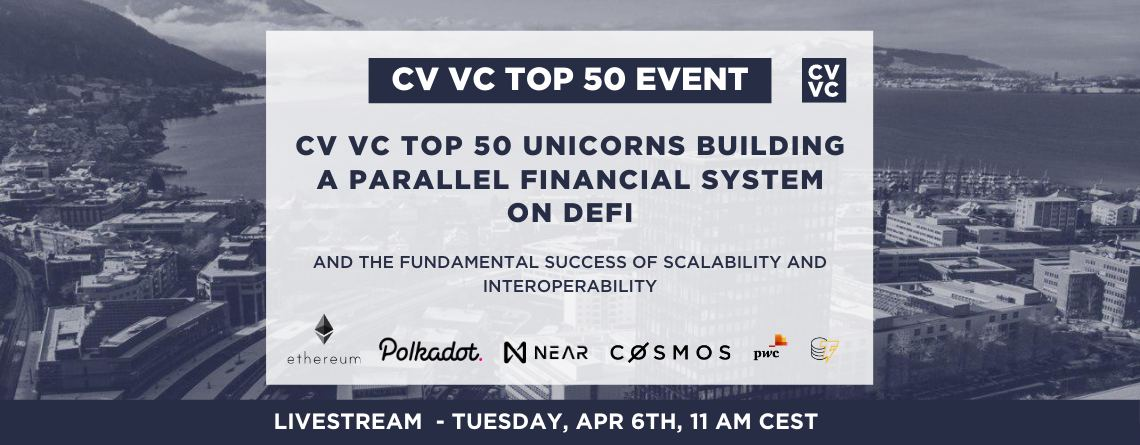 CV VC Top 50 unicorns building a parallel financial system on DeFi and the fundamental success of scalability and interoperability