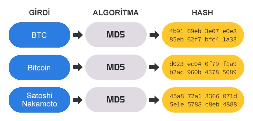 MD5 hash algoritması örneği