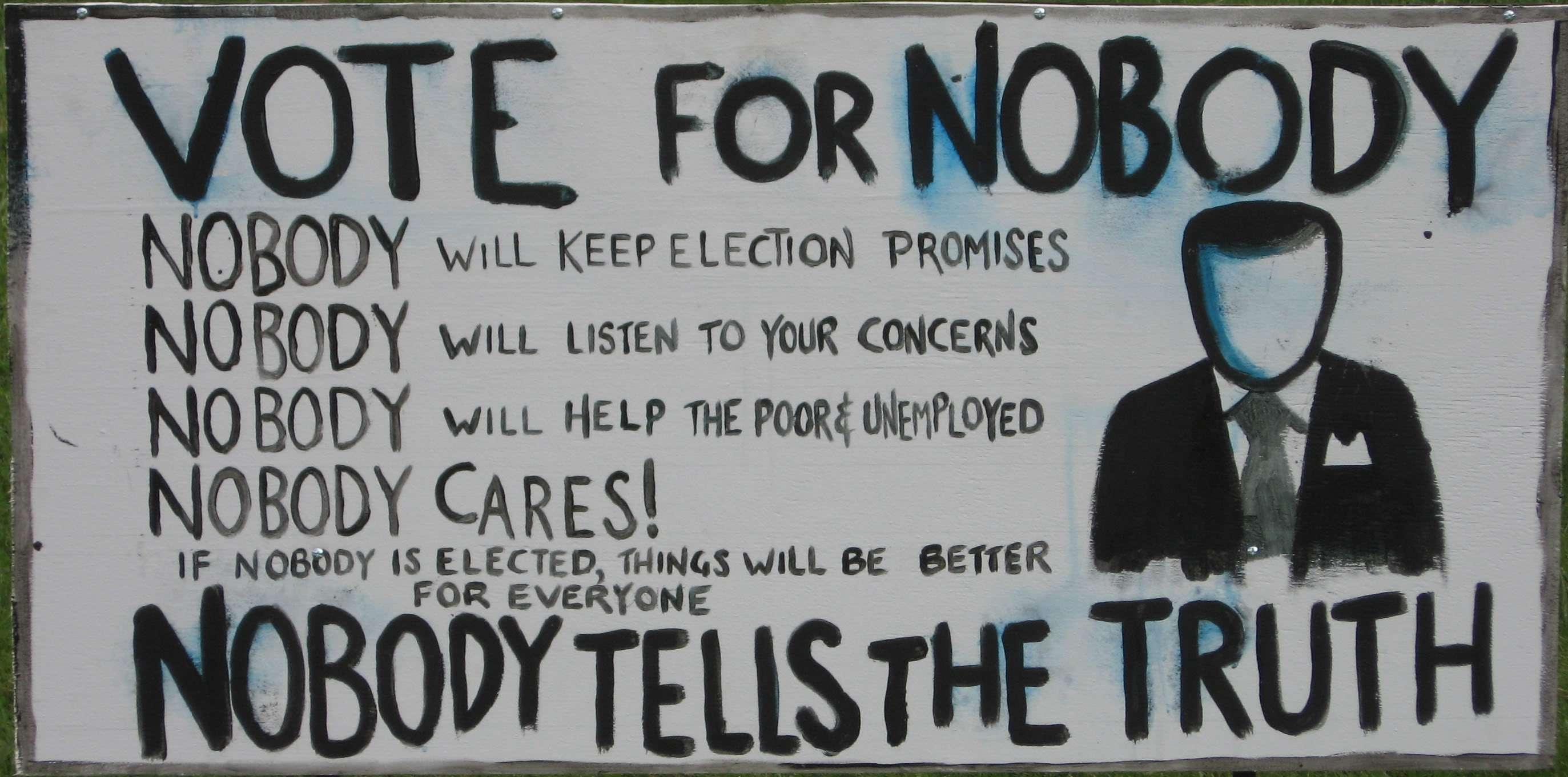 """Campagna elettorale di """"Nobody"""""""