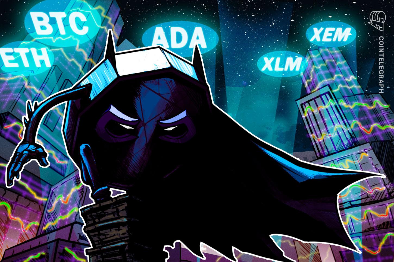 Top 5 cryptocurrencies to watch this week: BTC, ETH, ADA, XLM, XEM