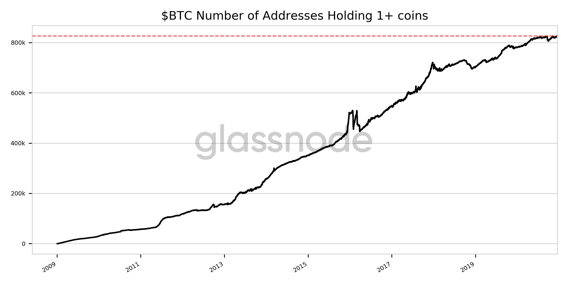 Wallet Bitcoin con un saldo di almeno 1 BTC