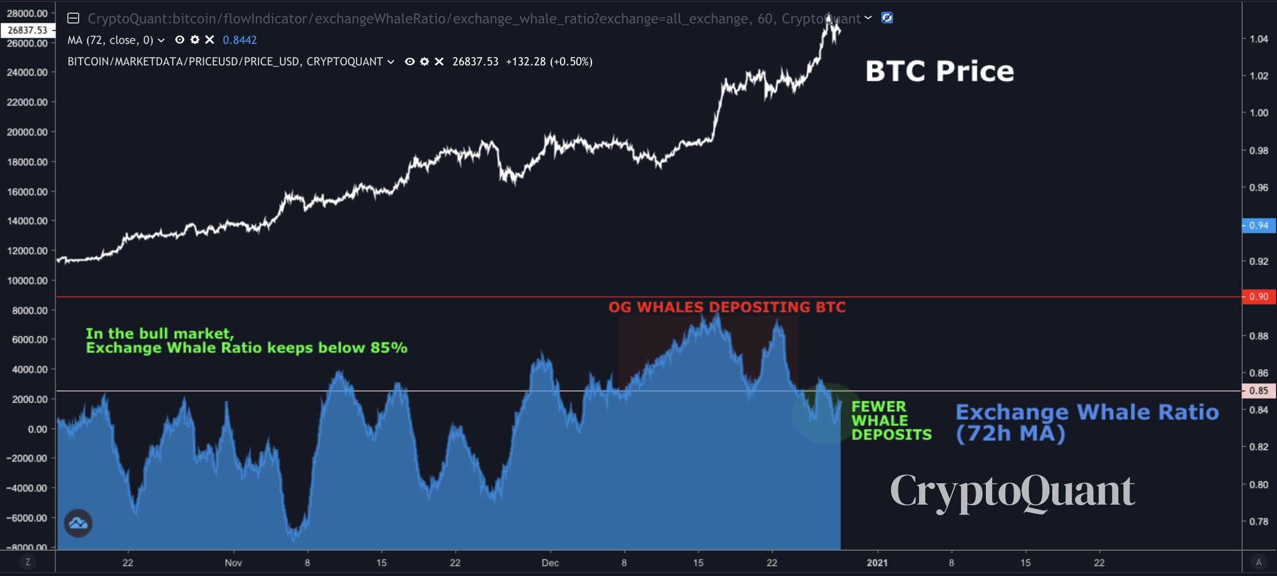 Bitcoin Exchange Whale Ratio