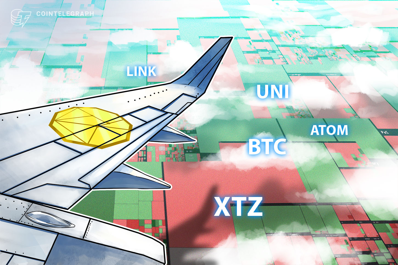 Top 5 cryptocurrencies to watch this week: BTC, LINK, UNI, XTZ, ATOM