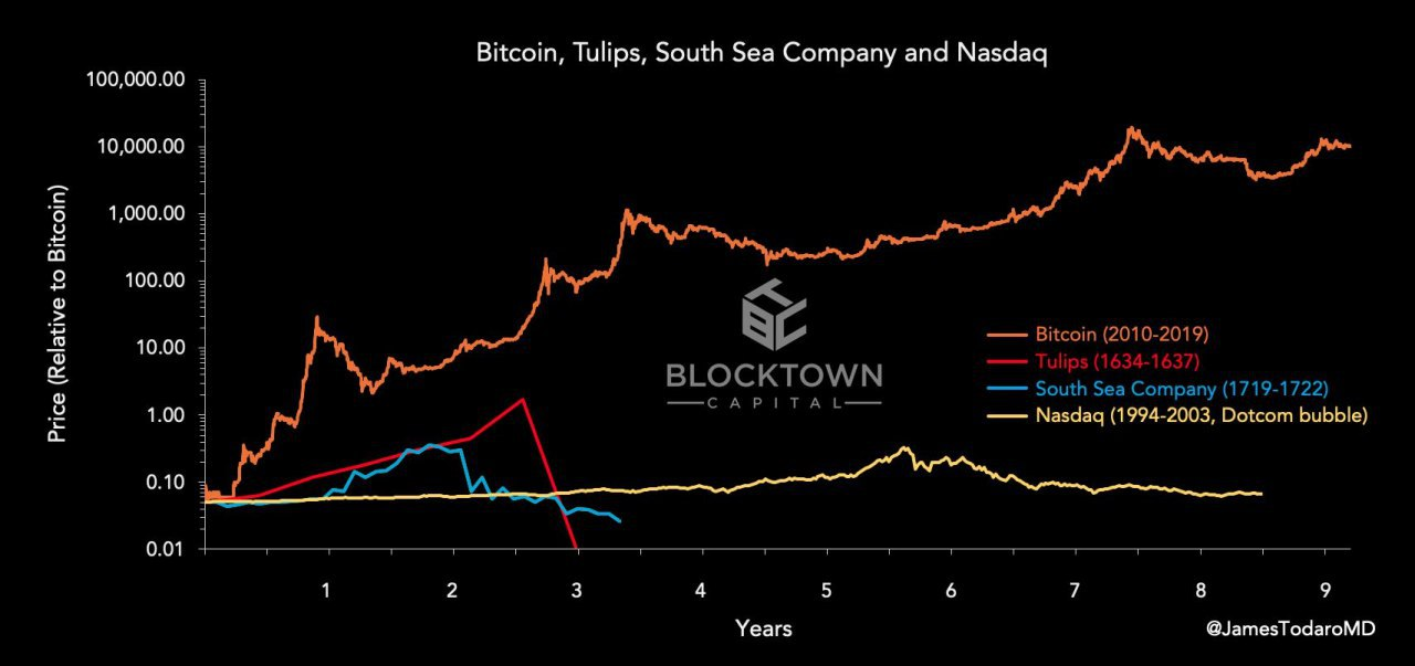 Bitcoin must cost 10X more with 10X less utility to match tulip mania — Investor