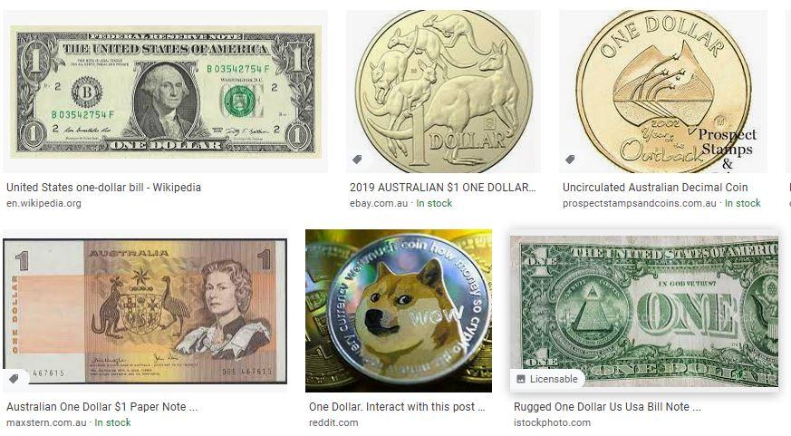 """Risultati per """"one dollar"""" su Google Immagini"""