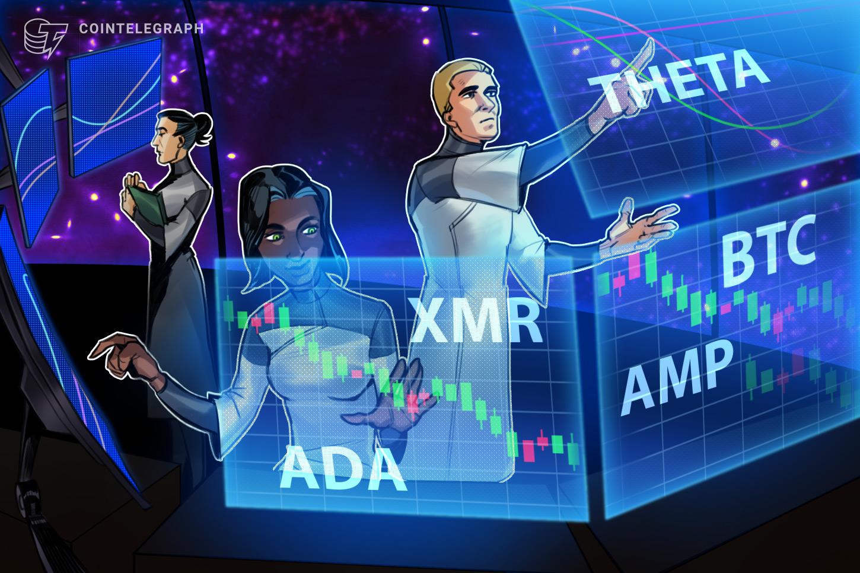 Top 5 cryptocurrencies to watch this week: BTC, ADA, THETA, XMR, AMP