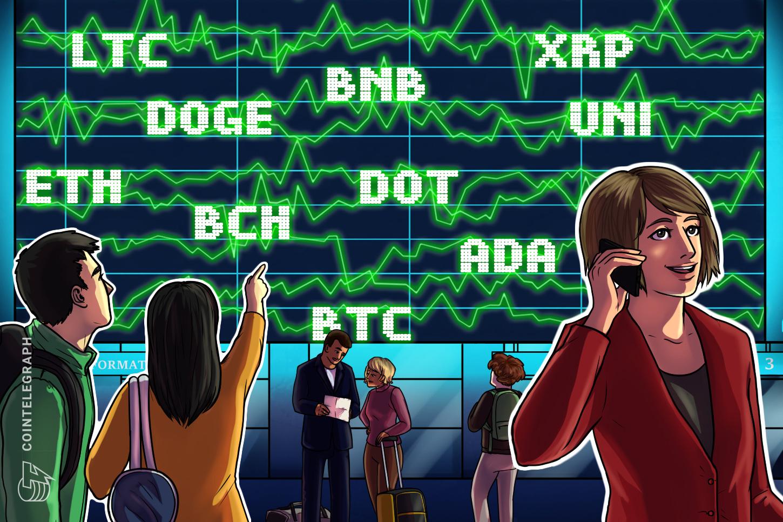 Price analysis 6/14: BTC, ETH, BNB, ADA, DOGE, XRP, DOT, UNI, LTC, BCH