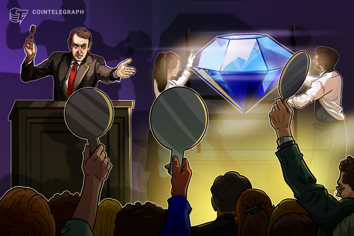Winner spends fortune in crypto on Sotheby's diamond auction