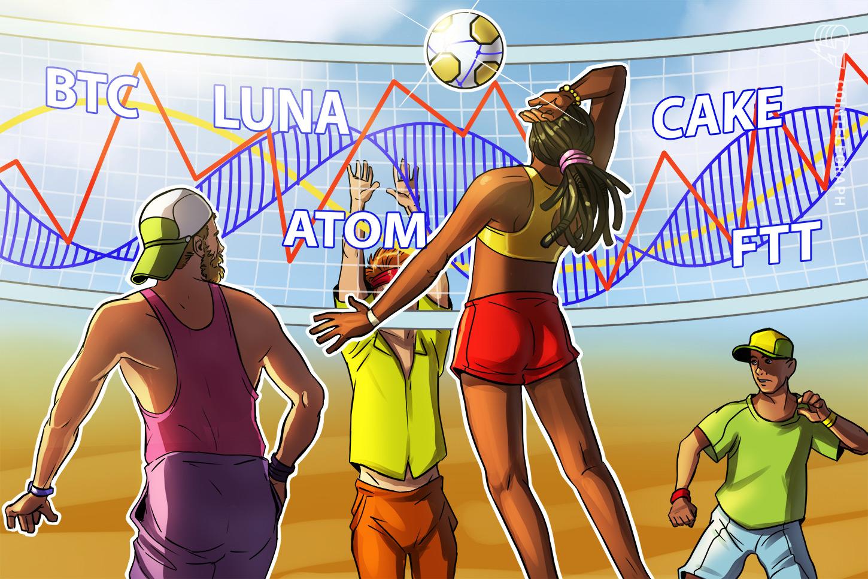 Top 5 cryptocurrencies to watch this week: BTC, LUNA, ATOM, CAKE, FTT