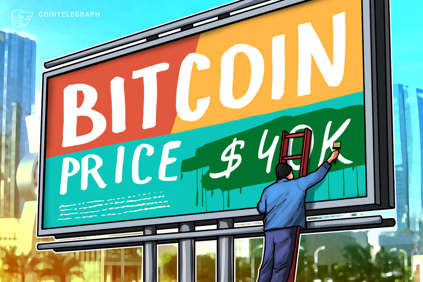 Bitcoin tries to break $40K second time in two days