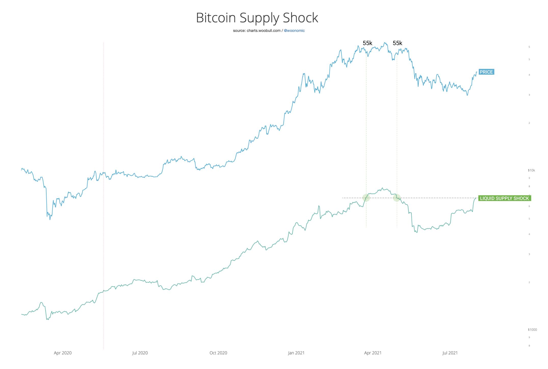 Shock dell'offerta di Bitcoin relativo al suo prezzo
