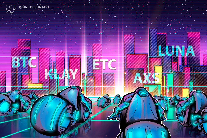 Top 5 cryptocurrencies to watch this week: BTC, ETC, LUNA, KLAY, AXS