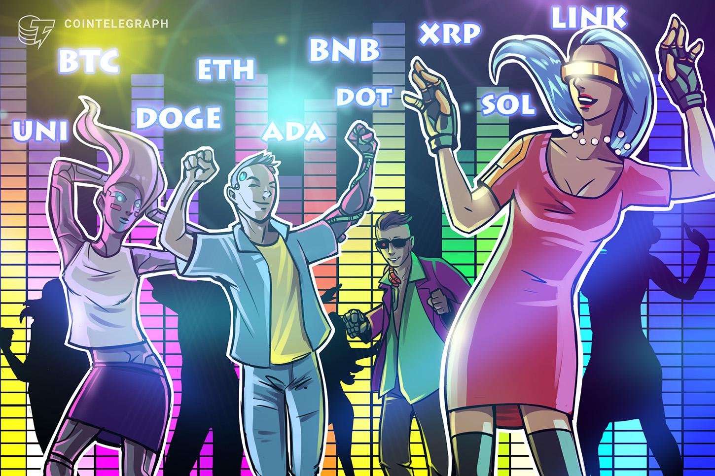 Price analysis 8/11: BTC, ETH, BNB, ADA, XRP, DOGE, DOT, UNI, LINK, SOL