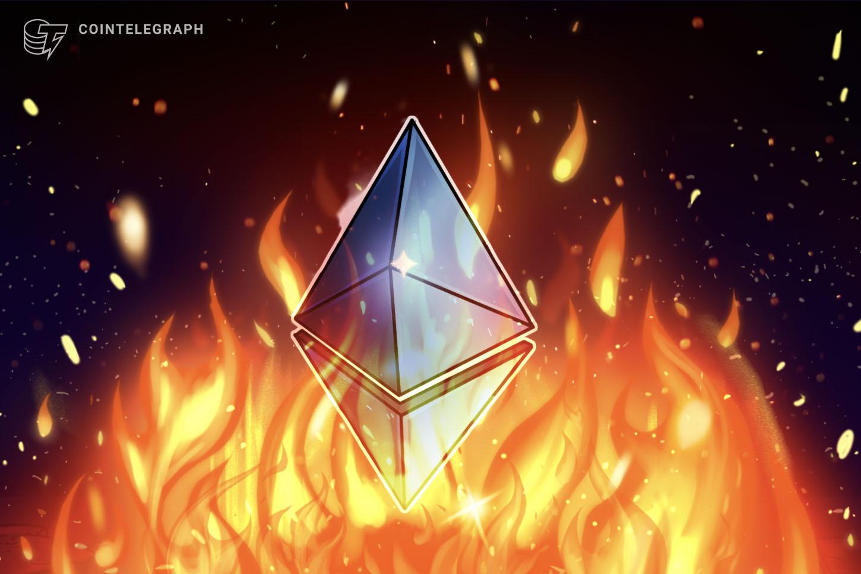 Ethereum network burns $395K ETH per hour after London upgrade
