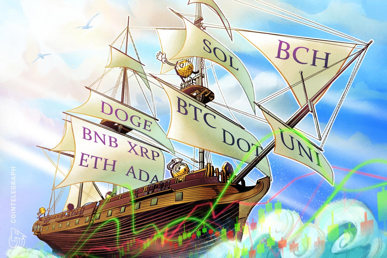 Price analysis 8/25: BTC, ETH, ADA, BNB, XRP, DOGE, DOT, SOL, UNI, BCH