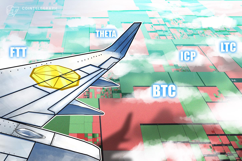 Top 5 cryptocurrencies to watch this week: BTC, LTC, ICP, THETA, FTT