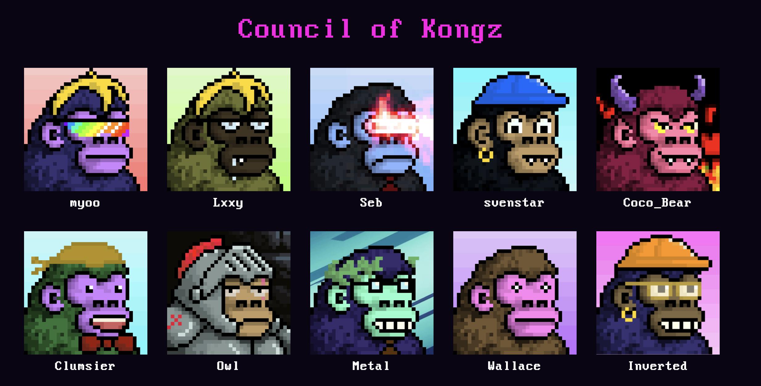 The Council of Kongz. Source: CyberKongz